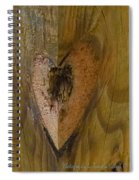 Heart Of The Wood Spiral Notebook