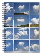 Heart Shaped Clouds - Collage Spiral Notebook