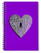 Heart Shaped Lock Purple .png Spiral Notebook