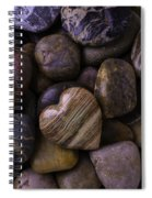 Heart Stone On River Rocks Spiral Notebook