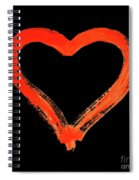 Heart - Symbol Of Love - Watercolor Painting Spiral Notebook