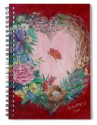 Heart Wreath Spiral Notebook