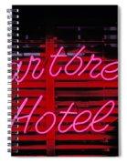 Heartbreak Hotel Neon Spiral Notebook