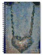 Hearted On Your Wall Again Medalion Painting Spiral Notebook
