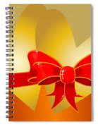 Hearts And Bow Spiral Notebook