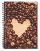 Hearts And Chocolate Drops. Valentines Background Spiral Notebook
