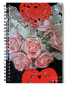 Hearts And Roses Spiral Notebook