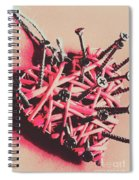 Hearts And Screws Spiral Notebook