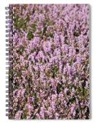Heather Background Spiral Notebook