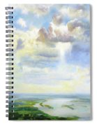 Heavenly Clouded Beauty Abstract Realism Spiral Notebook
