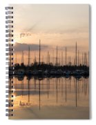 Heavenly Sunrays - Peaches-and-cream Sunrise With Boats Spiral Notebook