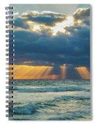Heavenly Sunrise Panorama At Riviera Beach  Spiral Notebook