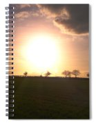 Heavenly Sunset Over Suffolk Spiral Notebook