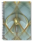 Heavenly Wings Of Gold Spiral Notebook