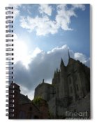 Heavens Above Mont St. Michel Abbey Spiral Notebook