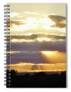 Heaven's Rays Spiral Notebook