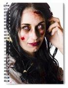 Heavy Metal Zombie Woman Wearing Headphones Spiral Notebook