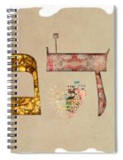 Hebrew Calligraphy-adam Spiral Notebook