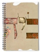 Hebrew Calligraphy-avida Spiral Notebook