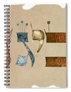 Hebrew Calligraphy-avigad Spiral Notebook