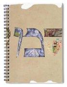 Hebrew Calligraphy- Carmit Spiral Notebook