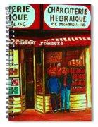 Hebrew Delicatessen Spiral Notebook