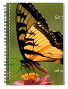 Hebrews Scripture Butterfly Spiral Notebook