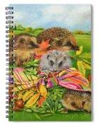 Hedgehogs Inside Scarf Spiral Notebook