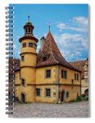 Hegereiterhaus Rothenburg Ob Der Tauber Spiral Notebook