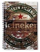 Heineken Beer Wood Sign 1a Spiral Notebook