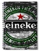 Heineken Beer Wood Sign 1f Spiral Notebook