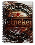 Heineken Beer Wood Sign 1j Spiral Notebook