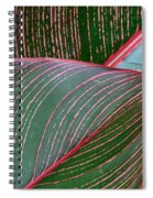 Heliconia Leaf Spiral Notebook