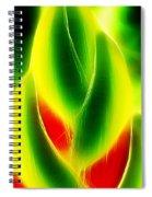 Heliconia Stem In Costa Rica Spiral Notebook