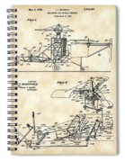 Helicopter Patent 1940 - Vintage Spiral Notebook