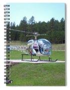 Helicopter Ride South Dakota Spiral Notebook