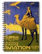 Heliopolis, Egypt - Grande Semaine D'aviation - Retro Travel Poster - Vintage Poster Spiral Notebook