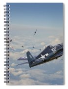 Hellcat F6f - Duel In The Sun Spiral Notebook