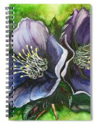 Helleborous Blue Lady Spiral Notebook