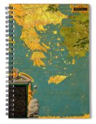 Hellenic Peninsula Greece, Albania, Bosnia And Bulgaria Spiral Notebook