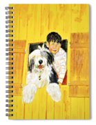 Hello Friends, We Are Here Spiral Notebook