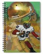 Helmet N Halfback Spiral Notebook
