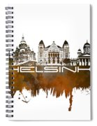 Helsinki Skyline City Brown Spiral Notebook