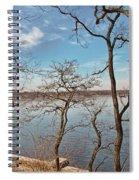 Hempstead Harbor Through The Trees Spiral Notebook