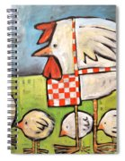 Hen And Chicks After Storm Spiral Notebook