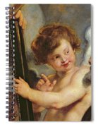 Henri Iv Receiving The Portrait Of Marie De Medici Spiral Notebook