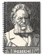 Henrik Ibsen, Norwegian Playwright Spiral Notebook