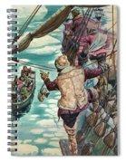 Henry Hudson Being Set Adrift Spiral Notebook