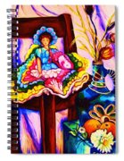 Her Little Parasol Spiral Notebook