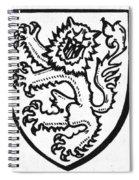 Heraldry: Lion Spiral Notebook